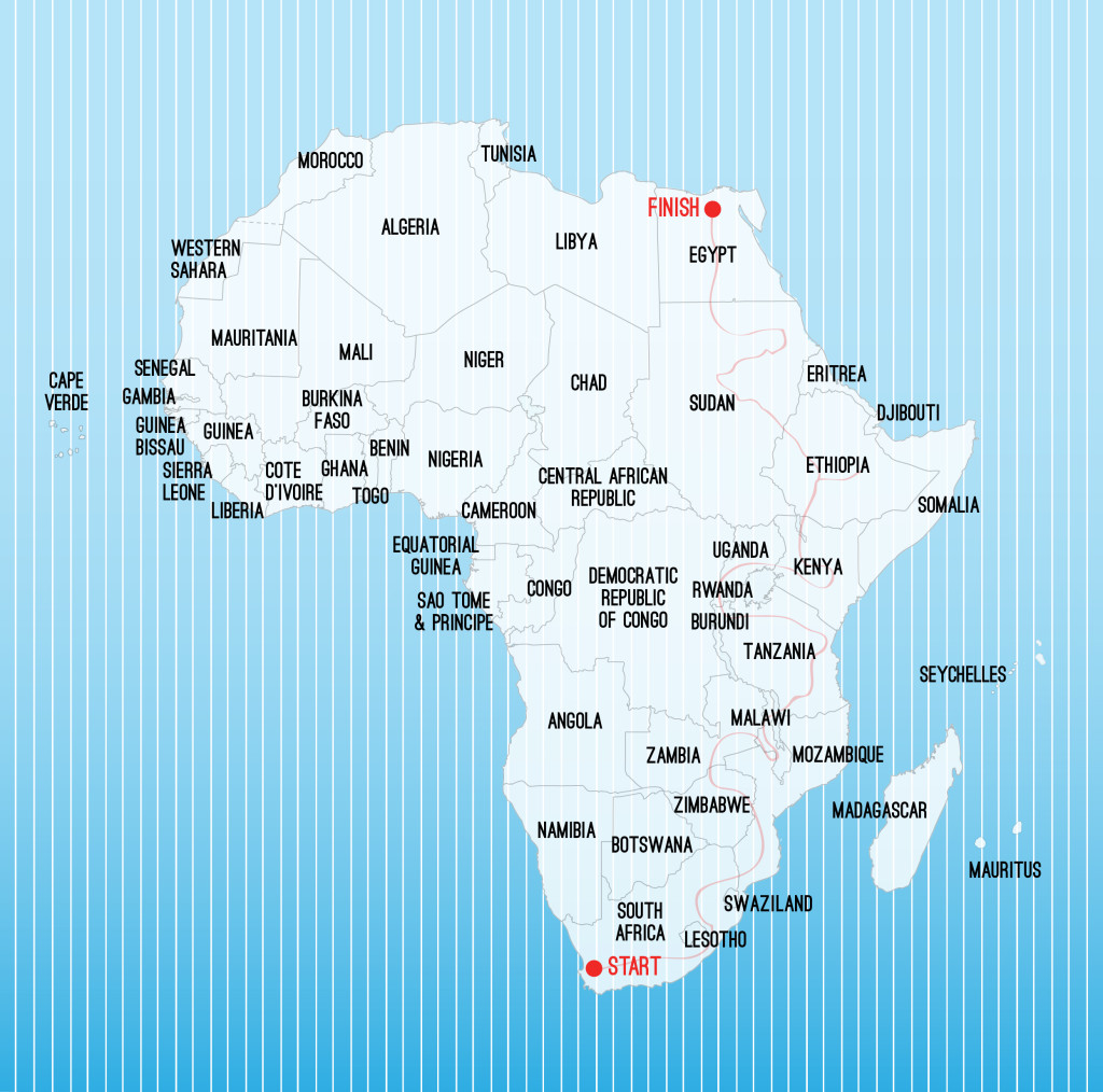 My Route Traveling Africa, Cape to Cairo, Backpacking Africa for Beginners, Travel Route in Africa