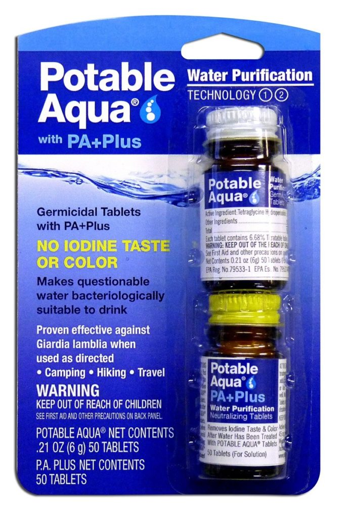Water Purification Tablets, backpacking gear, Iodine tablets