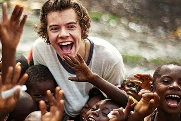 harry styles in africa, volunteering in africa, celebs in africa
