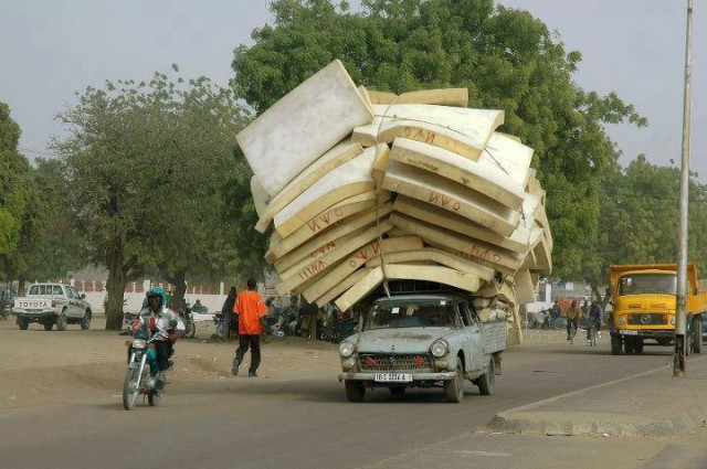 Backpacking Light in Africa, Backpacking Africa for Beginners, Overloaded truck in Africa