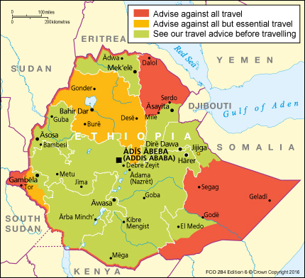 ethiopia travel warning