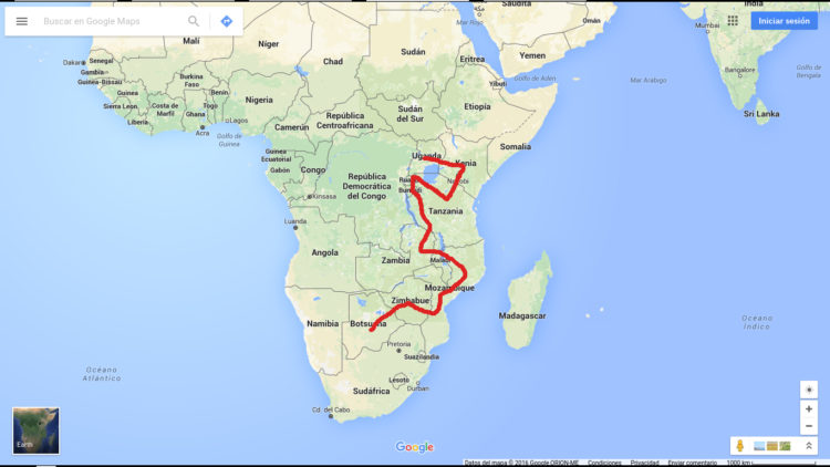 traveler in africa, backpacking route, africa route